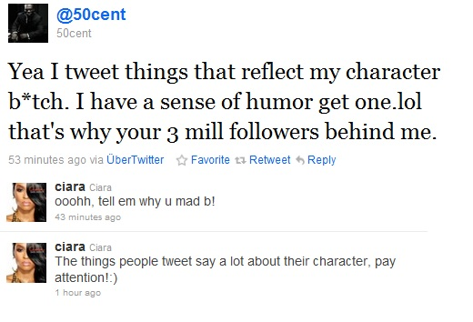 50 Cent Ciara Twitter Beef