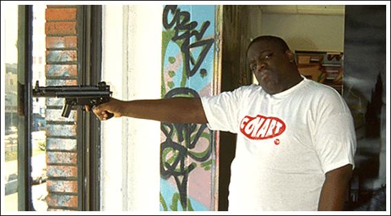 Biggie with a gun