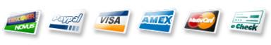 Credit cards accepted. American Express. Visa. Mastercard.