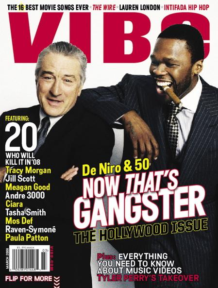Robert DeNiro and 50 Cent Cover of Vibe Magazine