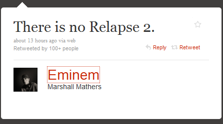 Eminem twitter message