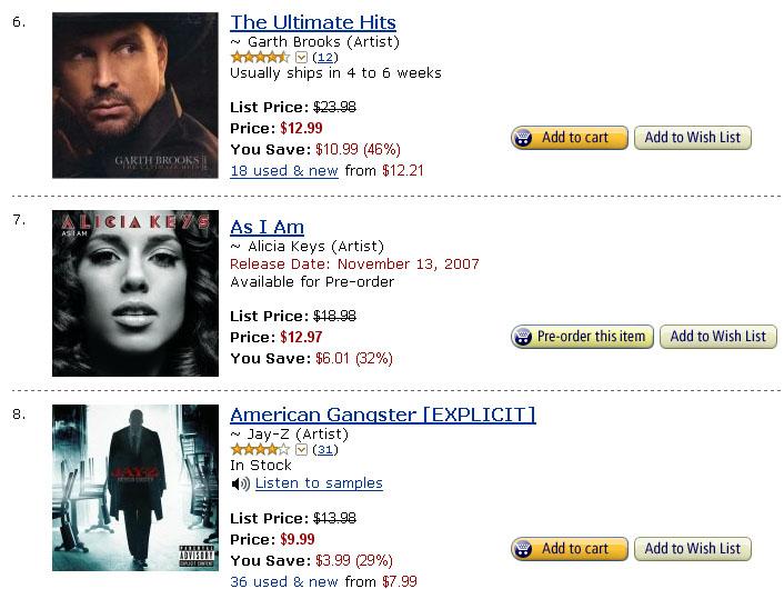 Jay-Z American Gangster Sales