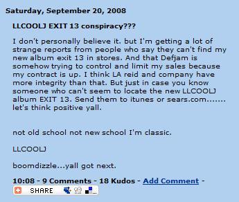 LL Cool J Myspace